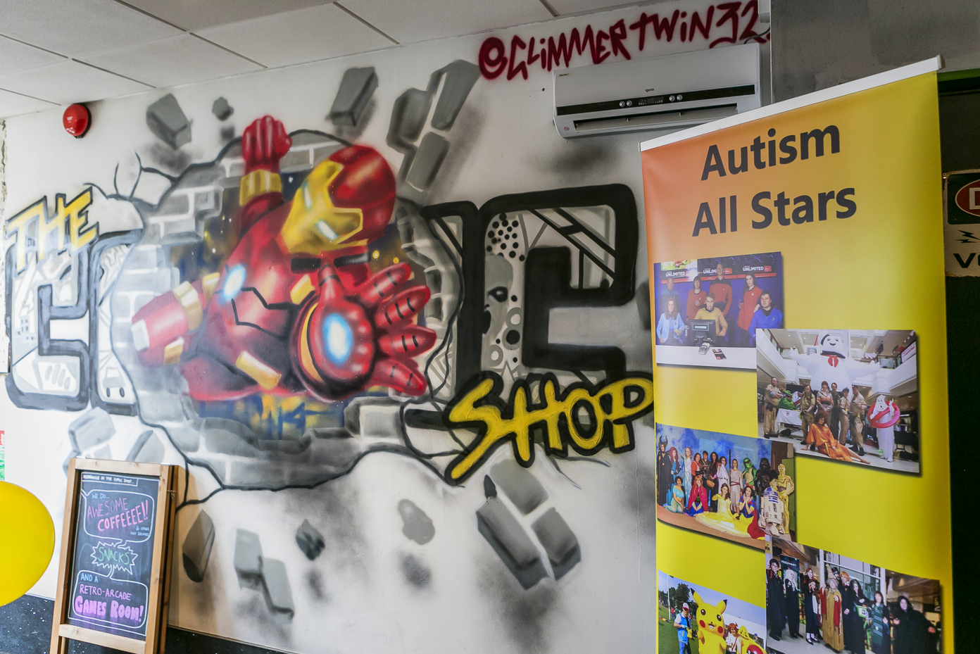 Aspergers, autism, Autism All Stars, autism awareness, characters, charity, cinema, Cineworld, cosplay, diversity, events, sussex, crawley, west sussex, the comic shop, gaming, arcade, coffee shop,