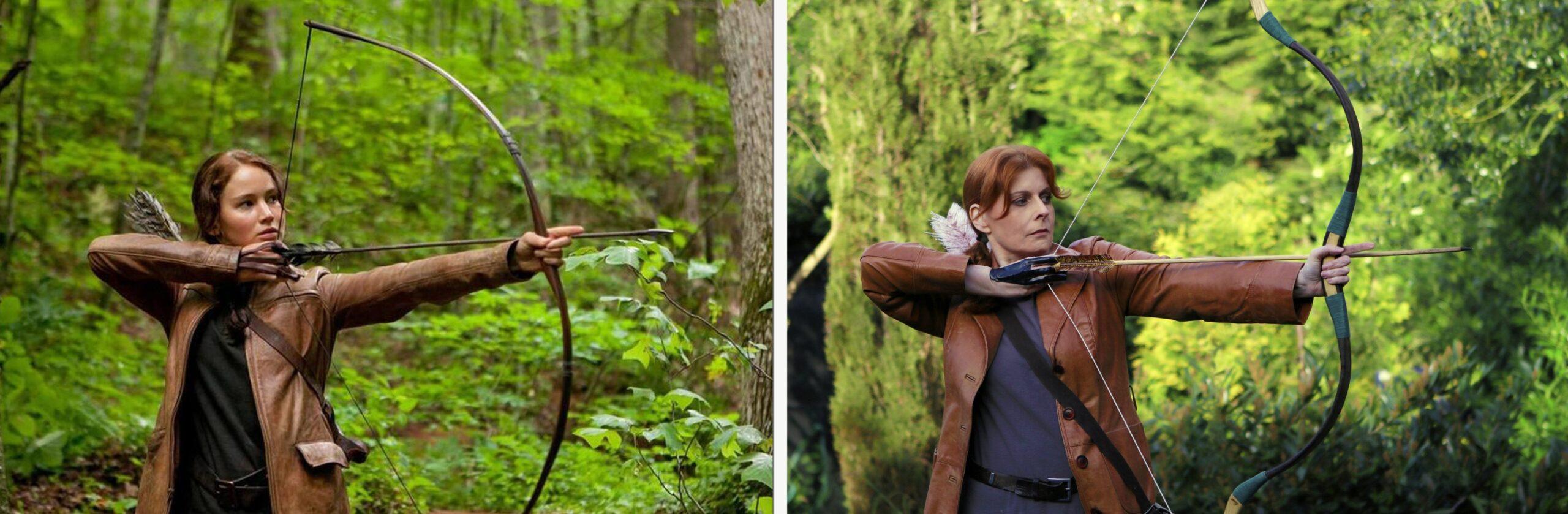 Katniss Everdeen – The Hunger Games / Helen Wallace-Iles – The Lockdown Games