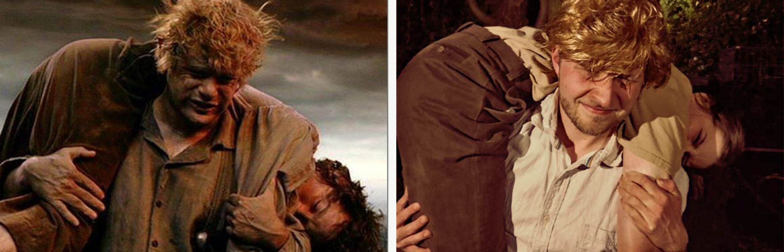 """""""I can carry you, Mr Frodo!"""" – LOTR Return of The King / """"I can carry you, Miss Izzy!"""" – LOTR Return of The Big Brother"""