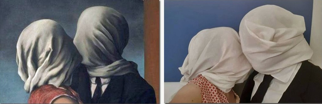 The Lovers - Rene Magritte / The Lovers - Georgie Buswell